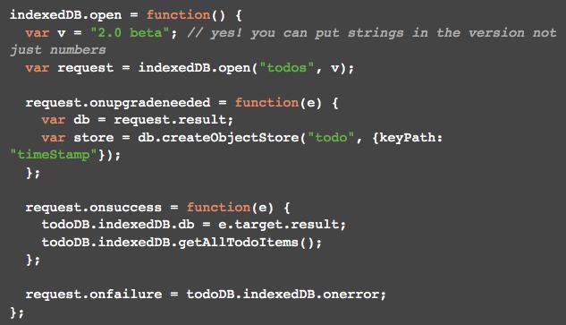 IndexedDB: the good parts